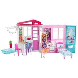バービーかわいいピンクのプールハウス おもちゃ こども 子供 女の子 人形遊び ハウス 3歳
