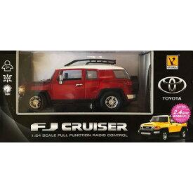2.4GHz 1/24 RCカー No.3 トヨタFJクルーザー 赤おもちゃ こども 子供 ラジコン 14歳