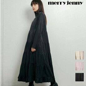 【期間限定ポイント10倍】【送料無料】zipティアードワンピース【merry jenny / メリージェニー】