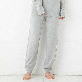 シルク100% ふわふわ加工 スウェットロングパンツ 日本製 男女兼用 メンズ レディース 縫い目のないホールガーメント グレー S/M