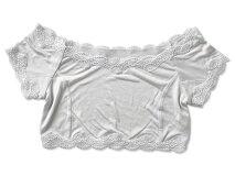 【汗取りインナー】シルクハーフトップ日本製シルク下着レディース涼感汗を吸収敏感肌|シルクインナーシルク下着汗とり夏涼しい汗染み防止汗じみ防止白ホワイト
