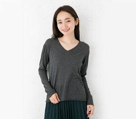 シルク カシミヤ あったかインナー 長袖 日本製 レディース 縫い目のないホールガーメント ベージュ グレー M-L