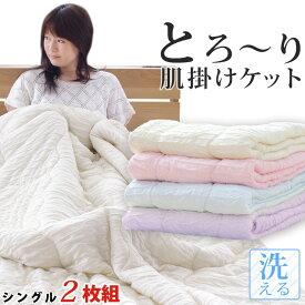 【2枚組 1枚あたり5,724円】洗える肌掛け布団 とろ〜りケット シングル