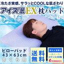 アイス眠EX ピローパッド 43×63cm 夏用 ひんやり 枕パット 涼感 冷感 枕カバー アイスミン ロマンス小杉 ランキングお取り寄せ