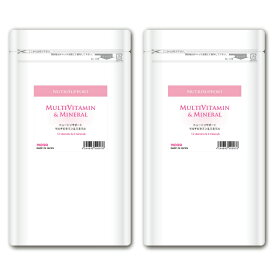 NutriSupport マルチビタミン & ミネラル 180カプセル 2個セット 国産ビタミンサプリメント 酵母フリー ノラ・コーポレーション