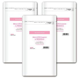 NutriSupport マルチビタミン & ミネラル 180カプセル 3個セット 国産ビタミンサプリメント 酵母フリー ノラ・コーポレーション