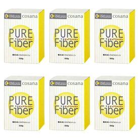ピュアファイバー 粉末 300g入 6個セット 食物繊維 α−シクロデキストリン(環状オリゴ糖)配合 サプリメント コサナ