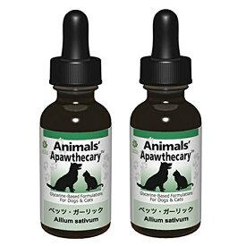 ペッツ・ガーリック 1オンス 29.5ml 2個セット Animals' Apawthecary アニマルズアパスキャリー ペット用ハーブサプリメント
