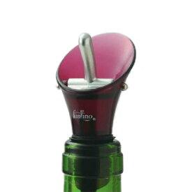 カラー ワインストッパー&ポアラー ワインレッド ワインの栓 注ぎ口【お取り寄せ】