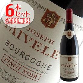 【送料無料】6本セット ブルゴーニュ ピノ ノワール[2017]フェヴレ(赤ワイン ブルゴーニュ)
