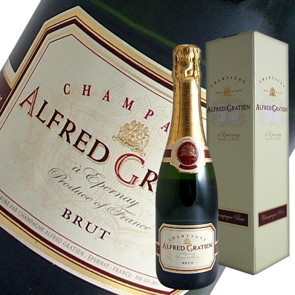 ブリュット ハーフ[N.V]アルフレッド グラシアン375ml(シャンパン)【ギフトボックス】