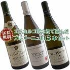 【送料無料】ブルゴーニュ白ワイン3本セット(A)コスパ抜群の優良生産者を厳選【今だけ20%オフ】