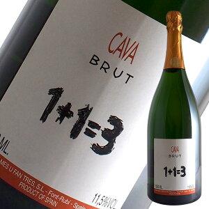 ブリュット カバ マグナム[N.V]1+1=3(ウ メス ウ ファン トレス)(スパークリングワイン スペイン)1500ml
