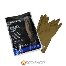 マタドールゴム手袋 1双 ブラウン[6インチ 6.5インチ 7インチ 7.5インチ 8インチ 8.5インチ]【MATADOR マタドール ヘアカラー用手袋 白髪染め グローブ ヘアカラー用ゴム手袋】
