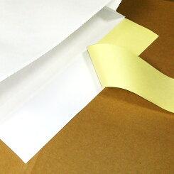 【2個で送料無料】宅配袋特大LLサイズ100袋晒片艶(さらかたつや)(白)