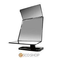 回転三面鏡ローテーションミラーY-4000【鏡/ミラー/三面鏡/360度回転/角度調整/ガラス鏡】