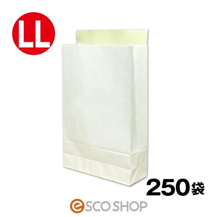 【送料無料】宅配袋 梱包袋 特大 A3 LLサイズ 250枚 テープ付き 白色 無地 日本製 梱包資材 紙袋 宅急便 大手運送業者と同サイズ (縦420*横260*マチ80mm)bagLL フリマ オークション