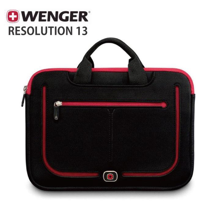 WENGER RESOLUTION 13 (ウェンガー リソリューション 13) ブラック 約2L 600674 【13インチ MacBook スリーブ/Wenger Sleeves】