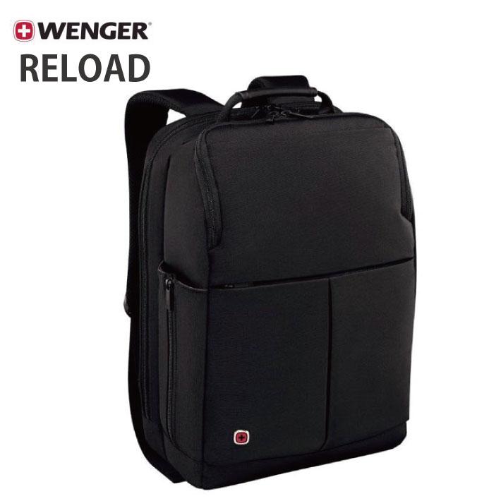 WENGER RELOAD 14 (ウェンガー リロード 14) ブラック 約11L 601068 【14インチ ラップトップ バックパック タブレットポケット】