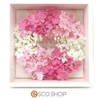 Q-FLASAKURAリース(桜さくらサクラバスフレグランスソープフラワー入浴剤母の日ギフトプレゼントホワイトデー結婚式)(送料無料)