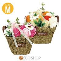 Q-FLAフラワーバスケットM(薔薇バラローズ花束バスフレグランスソープフラワー入浴剤母の日ギフトプレゼントホワイトデー)(送料無料)