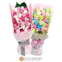 Q-FLAボックスブーケ(薔薇バラ花束バスフレグランスソープフラワー入浴剤母の日ギフトプレゼントホワイトデー)(送料無料)