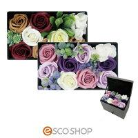 Q-FLAジュエリーボックス(薔薇バラローズ花束バスフレグランスソープフラワー入浴剤母の日ギフトプレゼントホワイトデー)(送料無料)
