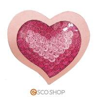 Q-FLAハートボックス(バラ薔薇ローズバスフレグランスソープフラワー入浴剤母の日ギフトプレゼントホワイトデー結婚式)(送料無料)