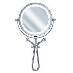引き寄せミラーLEDライト付拡大鏡(1倍/7倍)KBE3030