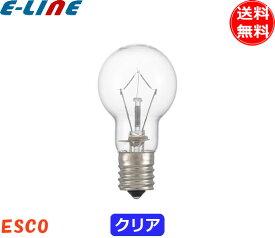 [25個セット]ミニクリプトン電球40形 Esco KR110V36W 40形 36ワット 口金:E17 ガラスクリア lds110v36wck lds100v36wck 「送料無料」「FR」