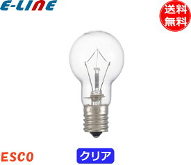 [25個セット]ミニクリプトン電球60形 Esco KR110V54W 60形 54ワット 口金:E17 ガラスクリア lds110v54wck lds100v54wck 「送料無料」「FR」
