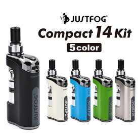 電子タバコ vape JUSTFOG COMPACT 14 KIT コンパクト キット スターターキット ジャストフォグ 1500mAh Q14 アップグレード 正規品 小型 コンパクト ベイプ
