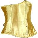 【送料無料】【お買い得】[LB4050]アンダーバストコルセット・シンチャー 【まぶしいゴールド】14ボーン 5段バスク 9段編み上げ ポイン…