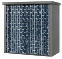 【送料無料】 タカヤマ物置 TJS-1515TK おしゃれな竹林柄 選べる扉のカラー3色(シルバー、ブルー、ダークブラウン) 幅1550×奥行820×高さ1500 スチール製 収納庫