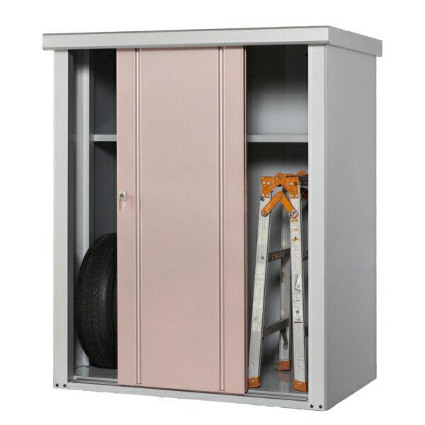 タカヤマ物置 TJS-1215 幅1250×奥行820×高さ1500 選べる扉のカラー3色(シルバー、ブラウン、ローズ) スチール製