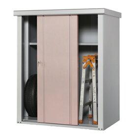タカヤマ物置 TJS-1215 幅1250×奥行820×高さ1500 選べる扉のカラー3色(シルバー、ブラウン、ローズ) スチール製 収納庫