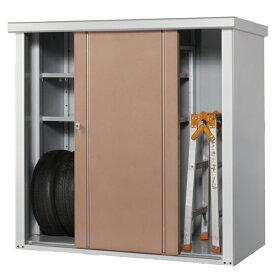 タカヤマ物置 TJS-1515 幅1550×奥行820×高さ1500 選べる扉のカラー3色(シルバー、ブラウン、ローズ) スチール製 収納庫