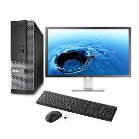 【中古】 Core i5 第三世代 メモリ8GB SSD128GB+高速HDD500GB 正規版Office Dell OptiPlex 7010【22インチ フルHD 液晶セット】 (新品無線キーボード マウス) 無線LAN付