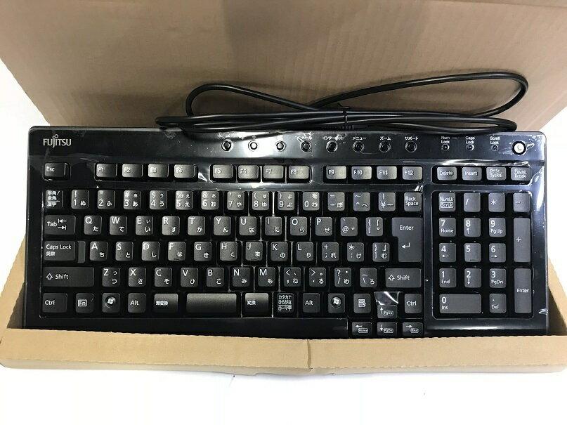 新品★FUJITSU PS/2接続 PS2 キーボード KB-0715 黒★送料無料