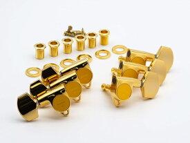 【ESP Parts】SG301-01 L3+R3 GO3×3 シャーラータイプ SET Gold[パーツ/ペグ/SCHALLER TYPE/両連用/ゴールド]