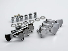 【ESP Parts】SG301-04 L3+R3 CR3×3 カスタムタイプ SET Chrome[パーツ/ペグ/CUSTOM TYPE/両連用/クローム]