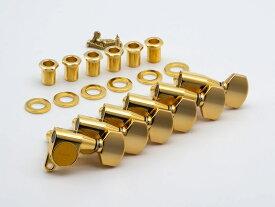 【ESP Parts】SG360-07-L GO6 in Line シャーラータイプ L SET Gold[パーツ/ペグ/SCHALLER TYPE/片連用/L側/ゴールド]