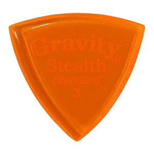 GRAVITYGuitarPicksStealth-Standard-GSSS3P[3.0mm,Orange]