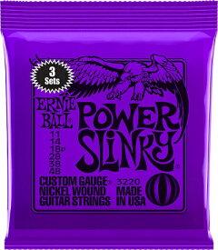 ERNIE BALL POWER SLINKY 3Set Pack【エレキギター弦】
