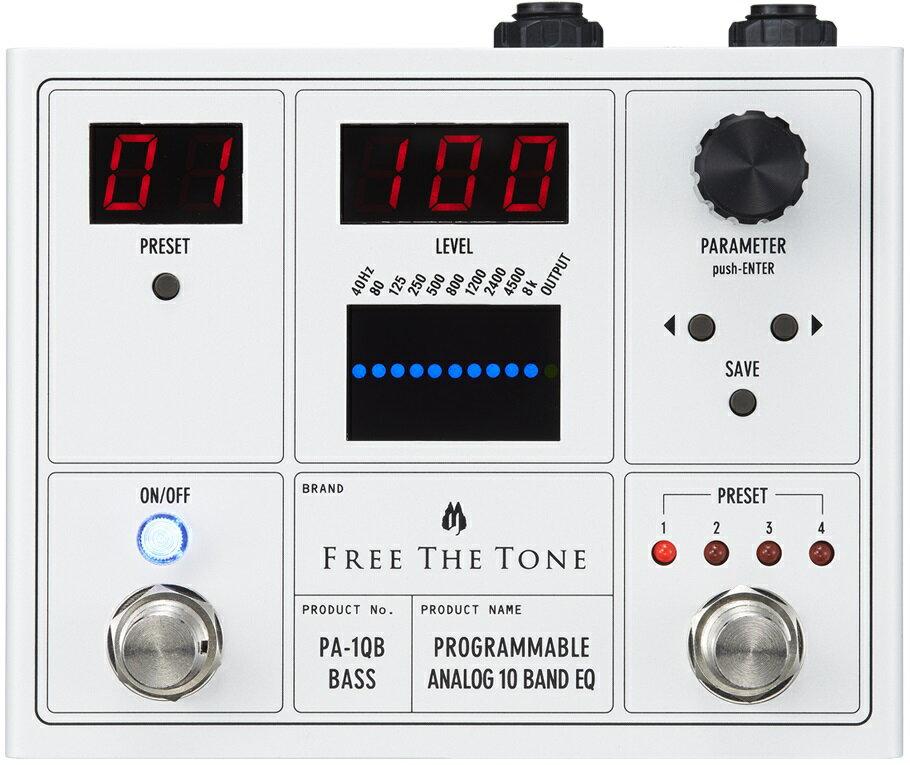 【即納可能】FREE THE TONE PROGRAMMABLE ANALOG 10 BAND EQ / PA-1QB(ベース用)