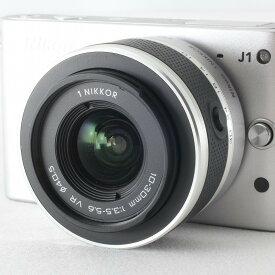 【中古】ニコン Nikon 1 J1 標準ズームレンズキット シルバー 付属品満載 元箱◇26311
