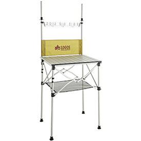ロゴス LOGOS キャンプ テーブル smart kitchen クックテーブル 風防付き 73186510