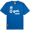 ゴル(gol) 半袖ドライTシャツ G592-516 BLU 【サッカー フットサル トレーニングウェア プラシャツ】
