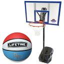 ライフタイム(LIFE TIME) バスケットゴール LT-90000 7号ボールセット 【バスケットボール バックボード ストバス 部活 新入部】