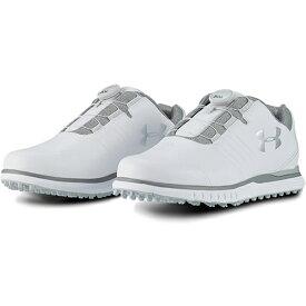 アンダーアーマー UNDER ARMOUR メンズ ゴルフシューズ ショーダウンスパイクレスベントボBOA ホワイト 3022257 100